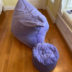 Lovesac Pillow Sac And footrest set